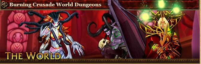 2004 Game Guide's Banner for the Burning Crusade World Dungeons