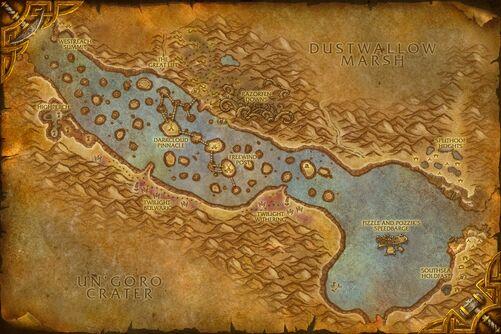 Thousand Needles map