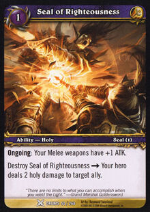 Seal of Righteousness TCG Card.jpg