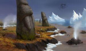 Tuskarr statues in the Borean Tundra