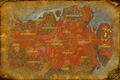 Mapa Półwyspu Piekielnego Ognia