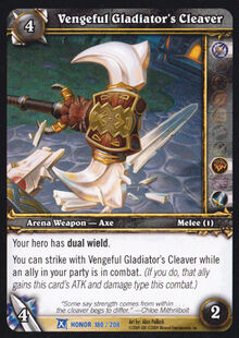 Vengeful Gladiator's Cleaver TCG Card.jpg
