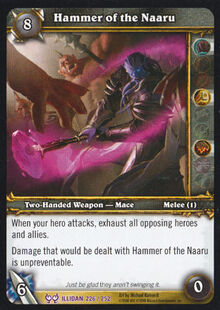 Hammer of the Naaru TCG Card.jpg