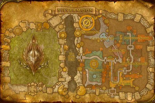 Silvermoon City map
