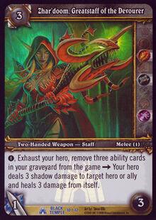 Zhar'doom, Greatstaff of the Devourer TCG Card.jpg