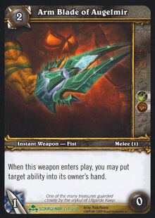 Arm Blade of Augelmir TCG Card.jpg