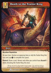 Death to the Traitor King TCG Card.jpg