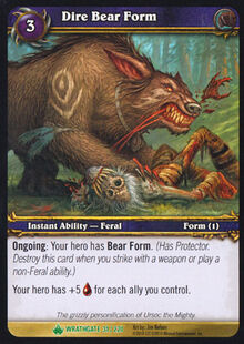 Dire Bear Form TCG Card.jpg