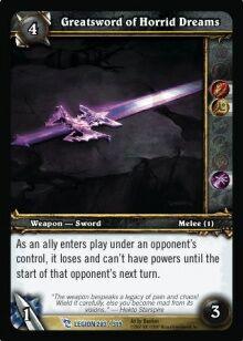 Greatsword of Horrid Dreams TCG Card.jpg