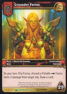 Crusader Farisa TCG Card.jpg