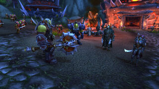Horde army leadership at Zoram'gar Outpost.jpg