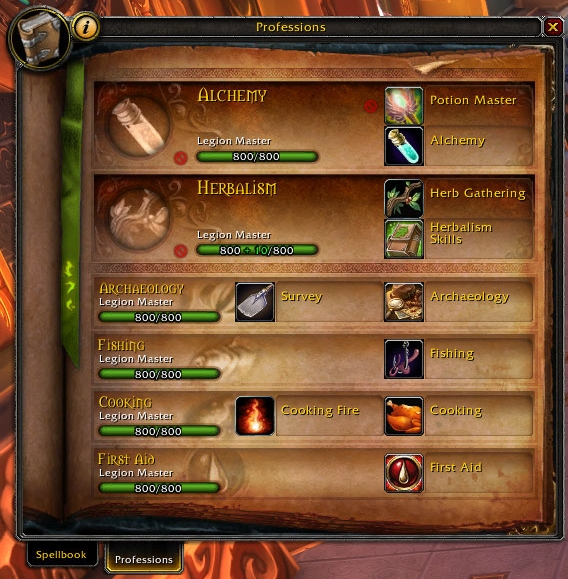 Professions Tab Wowpedia Your Wiki Guide To The World Of Warcraft