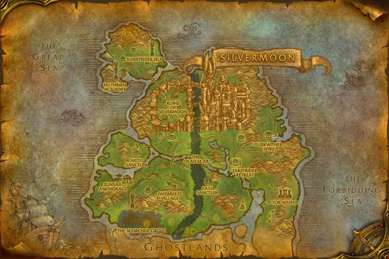Eversong Woods map
