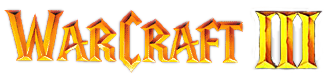 Recreation of the Warcraft III logo from Blizzard Product Catalogs and other sources.