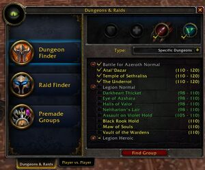 Dungeon Finder Wowpedia Your Wiki Guide To The World Of Warcraft