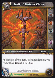 Staff of Sinister Claws TCG Card.jpg