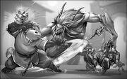 WoW RPG Pandaren vs Satyr by UdonCrew.jpg