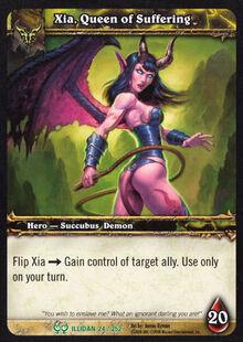 Xia, Queen of Suffering TCG Card.jpg