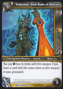Voldrethar, Dark Blade of Oblivion TCG Card.jpg