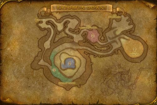 Razorfen Downs map
