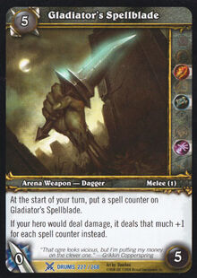 Gladiator's Spellblade TCG Card.jpg