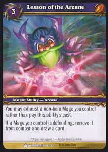 Lesson of the Arcane TCG Card.jpg