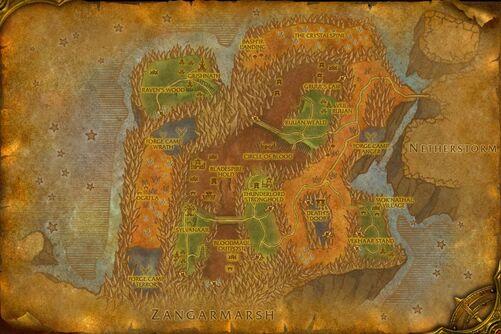 Blade's Edge Mountains map