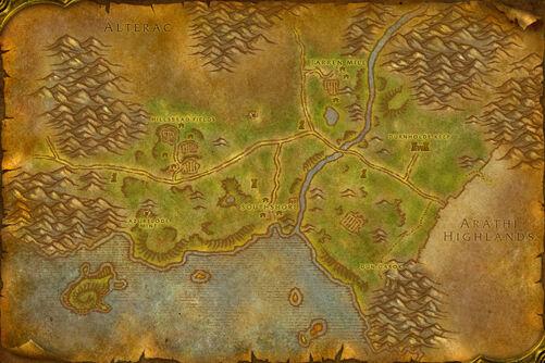Hillsbrad map