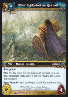 Bolvar Highlord of Fordragon Hold TCG Card.jpg