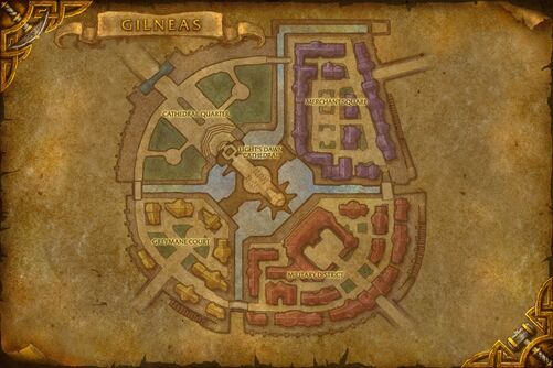 Gilneas City map