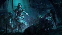 Warcraft III Reforged Tyrande and Illidan key art by Astri Lohne.jpg