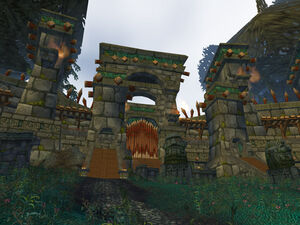 The entrance to Zul'Aman in southeastern Ghostlands