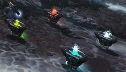 Dark Iron dwarf shaman totems.jpg