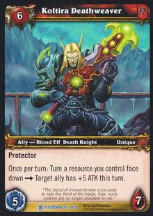 Koltira Deathweaver TCG Card.jpg