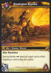 Vindicator Kentho TCG Card.jpg