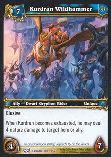 Kurdran Wildhammer TCG Card.jpg