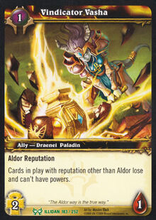 Vindicator Vasha TCG Card.jpg
