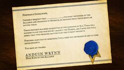 Battle for Azeroth Anduin letter.jpg