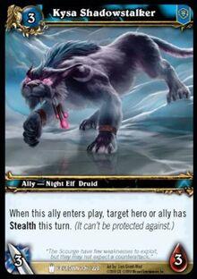 Kysa Shadowstalker TCG Card.jpg