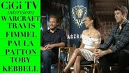 Warcraft Interview with Travis Fimmel, Paula Patton, and Toby Kebbell!!