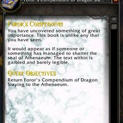 Quest:Foror's Compendium