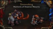 World of Warcraft WoD Timewalker mounts - Blizzcon 2018