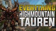 Highmountain Tauren - Customization + Tattoos, Racials, Druid Forms & Much More! - Horde Allied Race