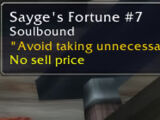 Sayge's Fortunes