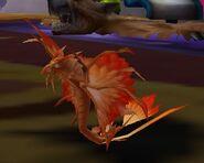 Golden dragonhawk hatchling