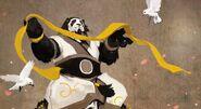 Shaohao with yellow ribbon