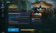 Battle.net app-Beta-WoW-PTR-downloading