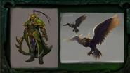 BlizzCon Legion - Azsuna Warden Warrior and owl concept art