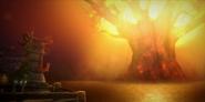 Battle for Azeroth - Teldrassil burning