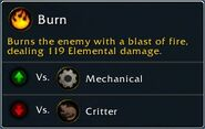 Pet Battle Attack Burn